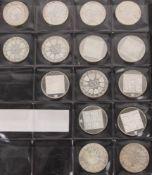 Österreich: 15 Silbermünzen, 2. Republik 217,6g Feinsilber.