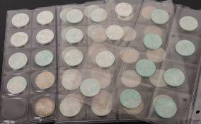 BRD: 51 x 5 DM Gedenkmünzen 625er Ag.