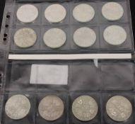 Österreich: Silbermünzen 2. Republik 12x500 ATS.