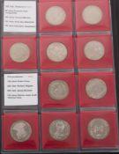 BRD: reichhaltiges Münzalbum 10€ Gedenkmünzen, 842,5 g Feinsilber.