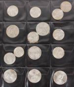 Österreich: Silbermünzen 2. Republik 193,36g Feinsilber.