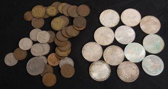 BRD: Kurs- und Gedenkmünzen, 84 g Feinsilber.