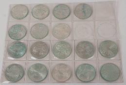 BRD: 17 x 10 DM Gedenkmünzen 625er Ag.