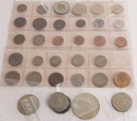 Kleinsammlung mit 4 Silbermünzen.
