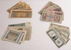 Umfangreiche Banknotensammlung, USA, Ungarn, Kroatien, Deutschland.