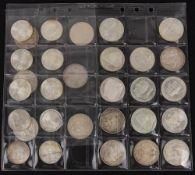 BRD: Silbergedenkmünzen 263,8g Feinsilber.
