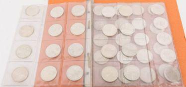 BRD: 10 DM Silbergedenkmünzen, 521,31 g Feinsilber.