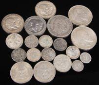 Deutsches Reich: Silbermünzen 20 Pf. bis 5 Mark 19 Stück.