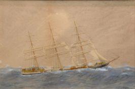 """Pervical, Harold (1868-1914) """"Kapitänsbild Dartford of London"""" 1899, Aquarell/P"""