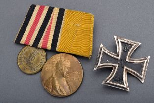 2 Diverse Teile: Eisernes Kreuz 1.Klasse 1870, S | 2 Various parts: Iron Cross 1st Class 1870, silv