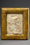 "Marmor Relief ""Mercurius, Gott der Kaufleute"" in | Marble relief ""Mercurius, God of the Merchants"""