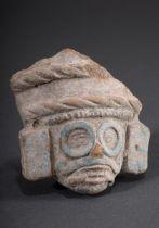 Maskenfragment des aztekischen Regen- und Wetter | Fragment of the mask of the Aztec rain and weath