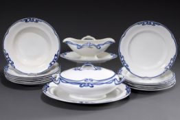 "15 Teile Villeroy & Boch Speiseservice ""Blaue Ol | 15 piece Villeroy & Boch dinner service ""Blaue O"