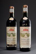2 Flaschen 1955 Chateau Canon, Cotes Canon-Frons | 2 bottles 1955 Chateau Canon, Cotes Canon-Fronsa