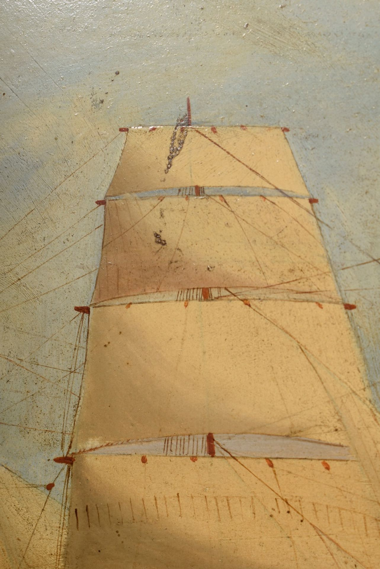"Unbekannter Marinemaler des frühen 20.Jh. ""Kapit   Unknown marine painter of the early 20th c. ""Cap - Image 3 of 4"