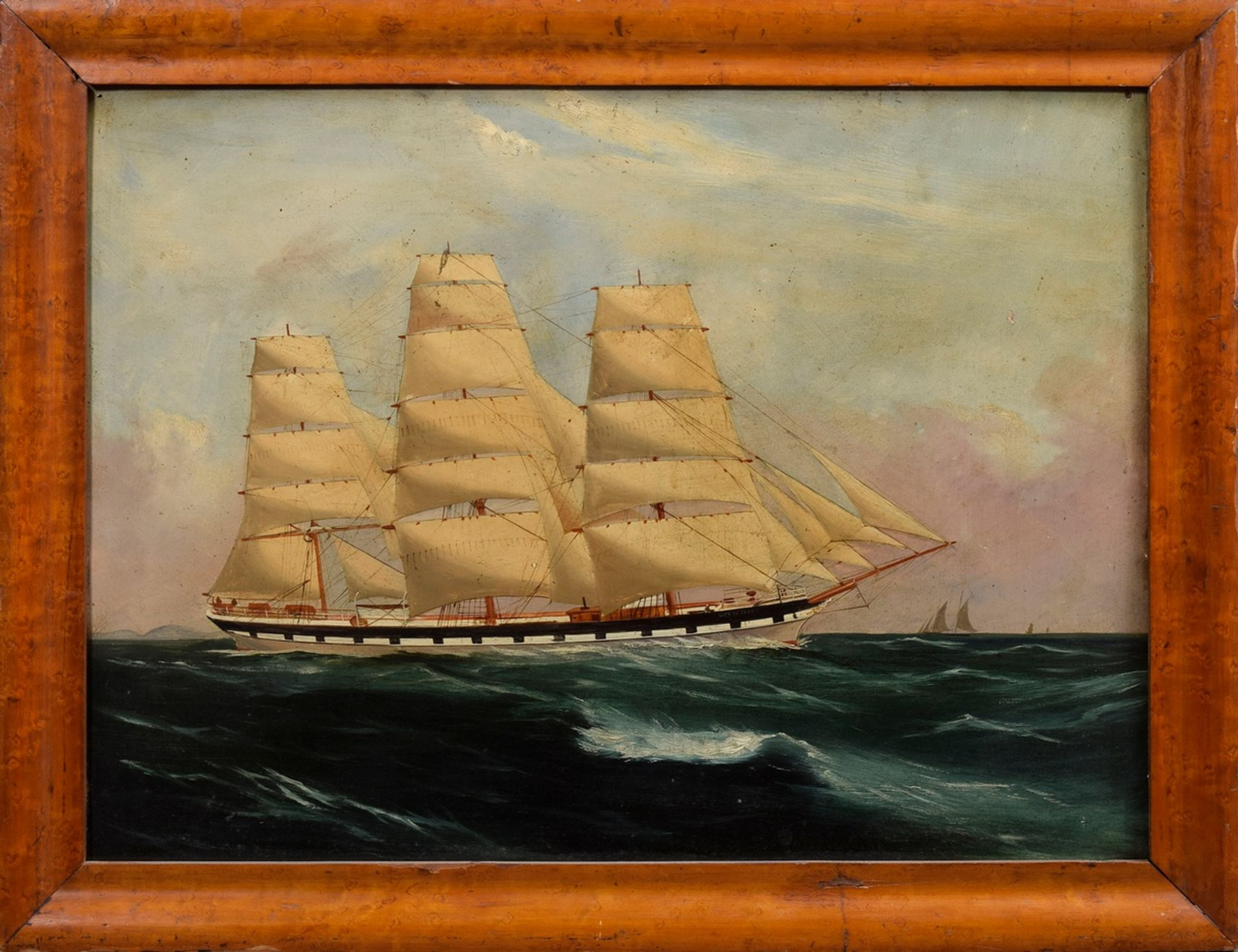 "Unbekannter Marinemaler des frühen 20.Jh. ""Kapit   Unknown marine painter of the early 20th c. ""Cap - Image 2 of 4"