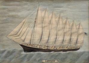 "Unbekannter Maler des späten 19.Jh. ""Kapitänsbil | Unknown painter of the late 19th c. ""Captain's p"