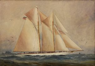 "Artelt, E. ""Kapitänsbild Jacht 'Nordstern'"" 1910 | Artelt, E. ""Captains picture yacht 'Nordstern'"""