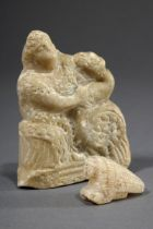 2 Diverse Teile byzantinische Alabasterschnitzer | 2 Various pieces of Byzantine alabaster carvings