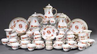 90 Teile opulentes Meissen Kaffeeservice für 24 | 90 pieces opulent Meissen coffee service for 24