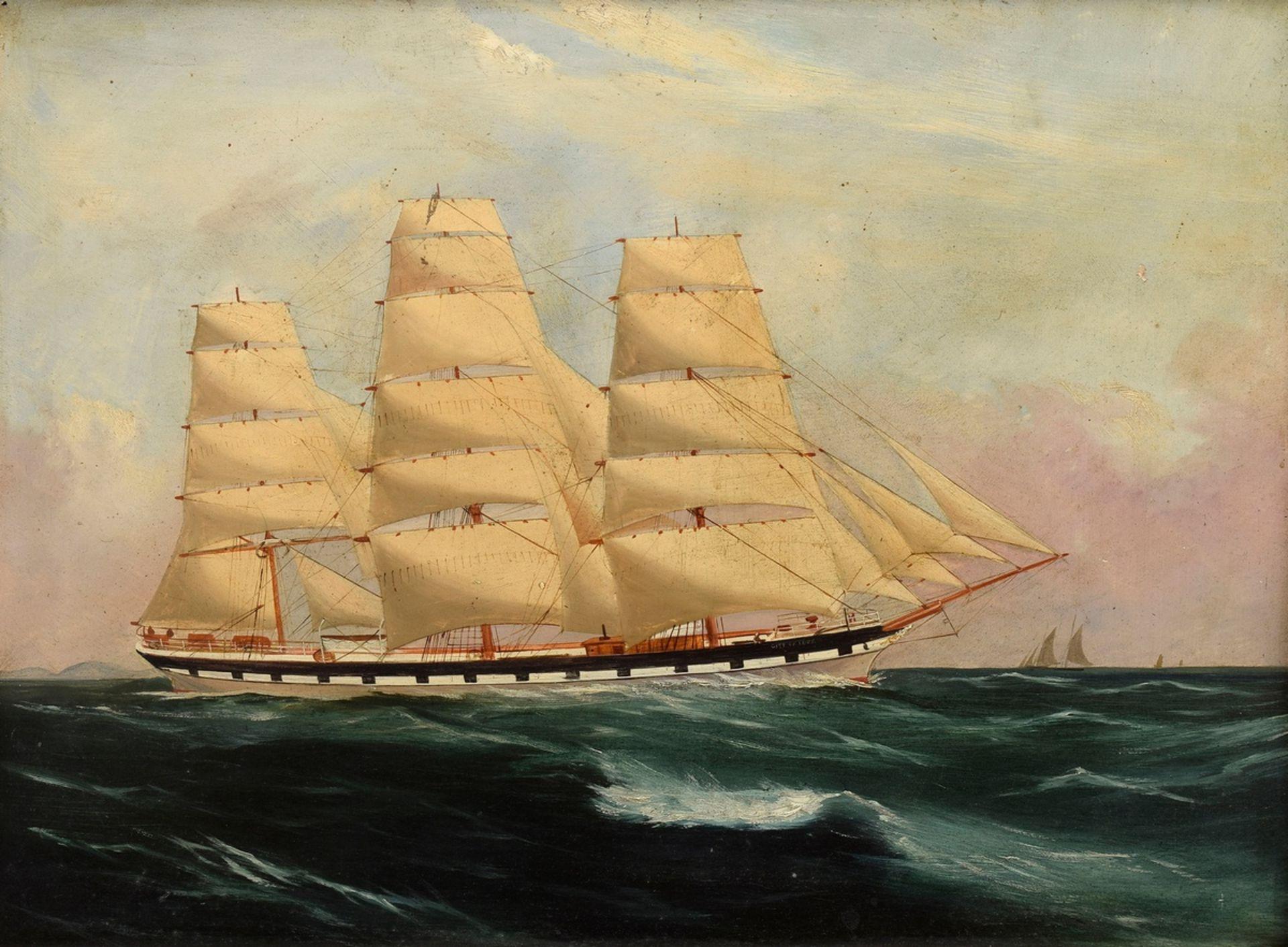 """Unbekannter Marinemaler des frühen 20.Jh. """"Kapit   Unknown marine painter of the early 20th c. """"Cap"""