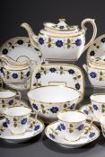 "23 Teile Empire Kaffee-Tee-Service ""Blaue Blüten | 23 piece Empire coffee tea service ""Blue flower"