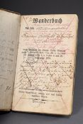 "Band ""Gesellen Wanderbuch"" von Johann Gotthelt Z | Volume ""Journeyman traveling book"" kept by Johan"