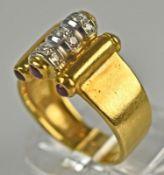 RING mit Diamanten, Gold 18ct