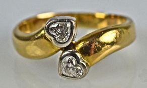 RING mit Diamantherzen gesamt um 0,5ct