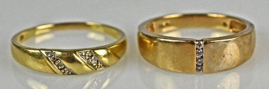 2 GOLD-RINGE verschieden