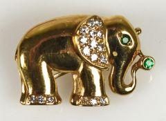 ANHÄNGER/BROSCHE kleiner Elefant