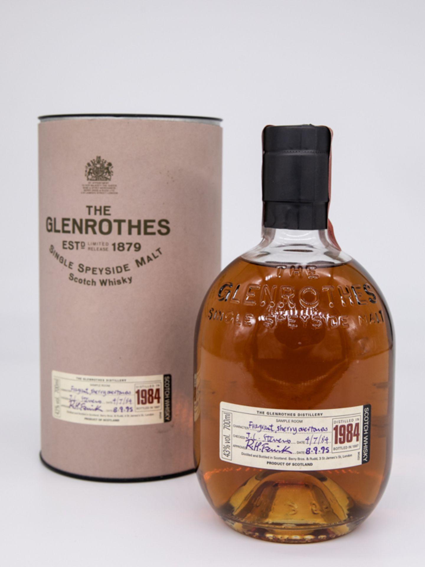 """Single Malt Whisky,""""The Glenrothes"""", 1984 Limited. Destilliert 04.07.1984. Abgefüllt 08.09.198"""