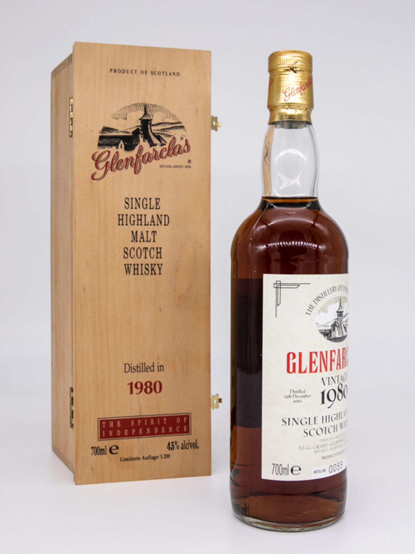 """Single Malt Whisky,""""Glenfarclas"""" Vintage 1980, Limitierte Auflage 59/1200. Destilliert 23. Deze - Bild 6 aus 6"""