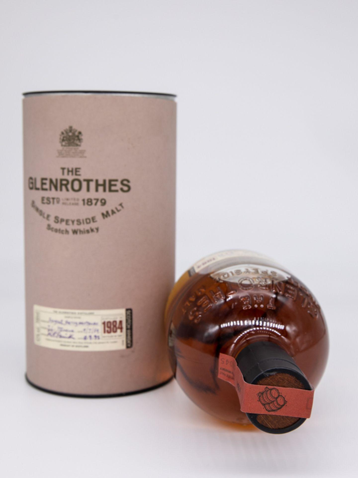 "Single Malt Whisky,""The Glenrothes"", 1984 Limited. Destilliert 04.07.1984. Abgefüllt 08.09.198 - Bild 4 aus 4"