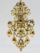 Antiker Anhänger mit Diamanten, zus. ca. 0,8 ct, Spanien 16./ 17. Jh. 750/- Gelbgold. Gesamtge