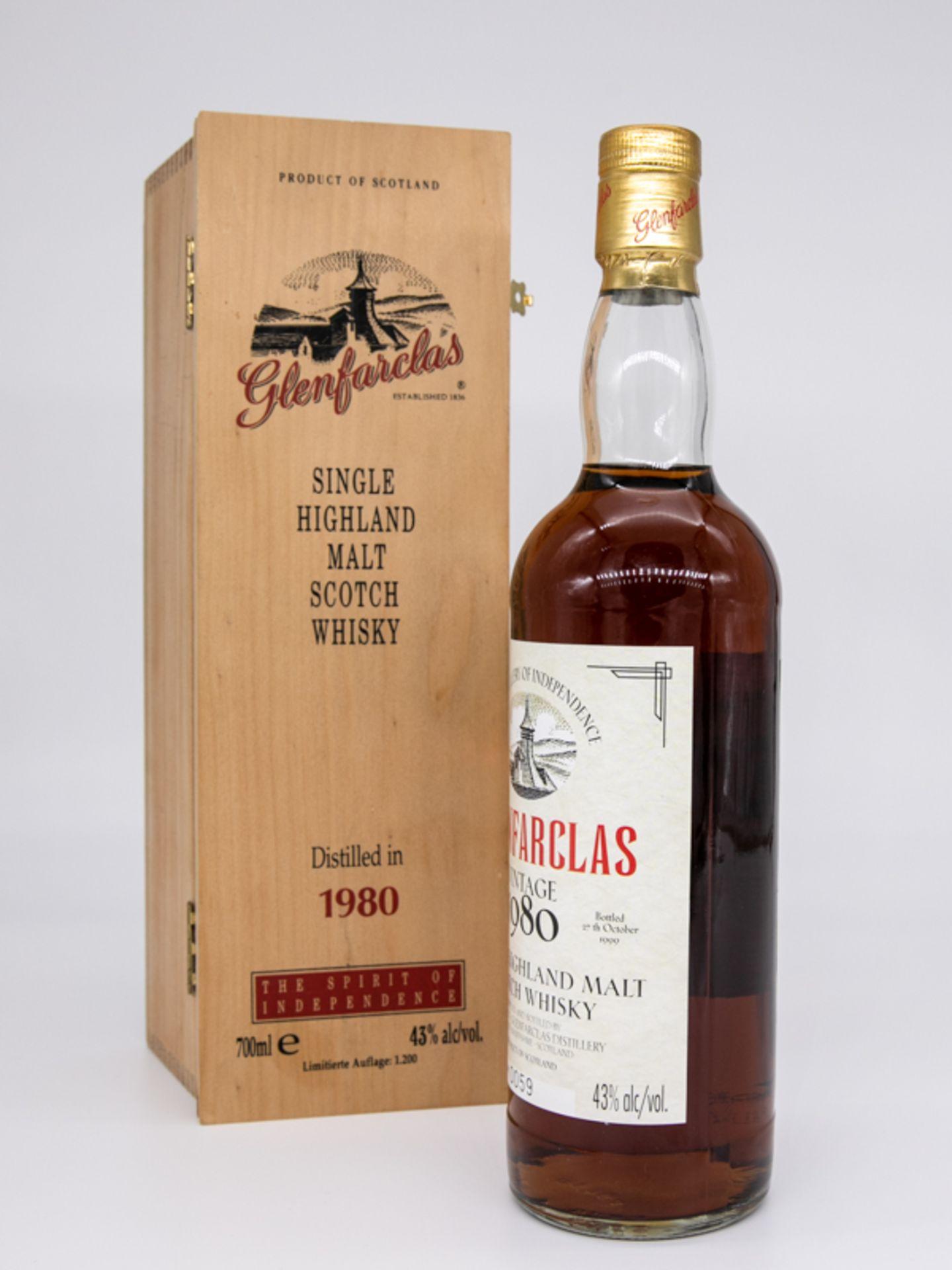 """Single Malt Whisky,""""Glenfarclas"""" Vintage 1980, Limitierte Auflage 59/1200. Destilliert 23. Deze - Bild 3 aus 6"""