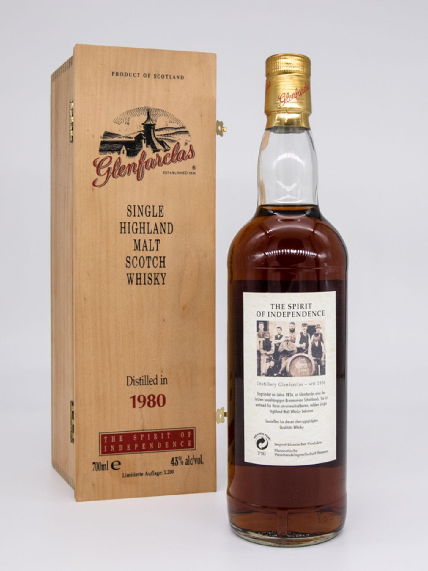 """Single Malt Whisky,""""Glenfarclas"""" Vintage 1980, Limitierte Auflage 59/1200. Destilliert 23. Deze - Bild 2 aus 6"""