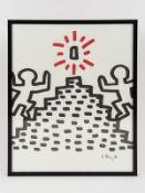 Haring, Keith (1958 - 1990). Farb-Offsetlithographie auf halbtransparentem Maschinenbütten (Pe