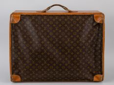 Travel Case, The French Co./USA in Lizenz von Louis Vuitton, 1970er Jahre. Braun beschichtetes