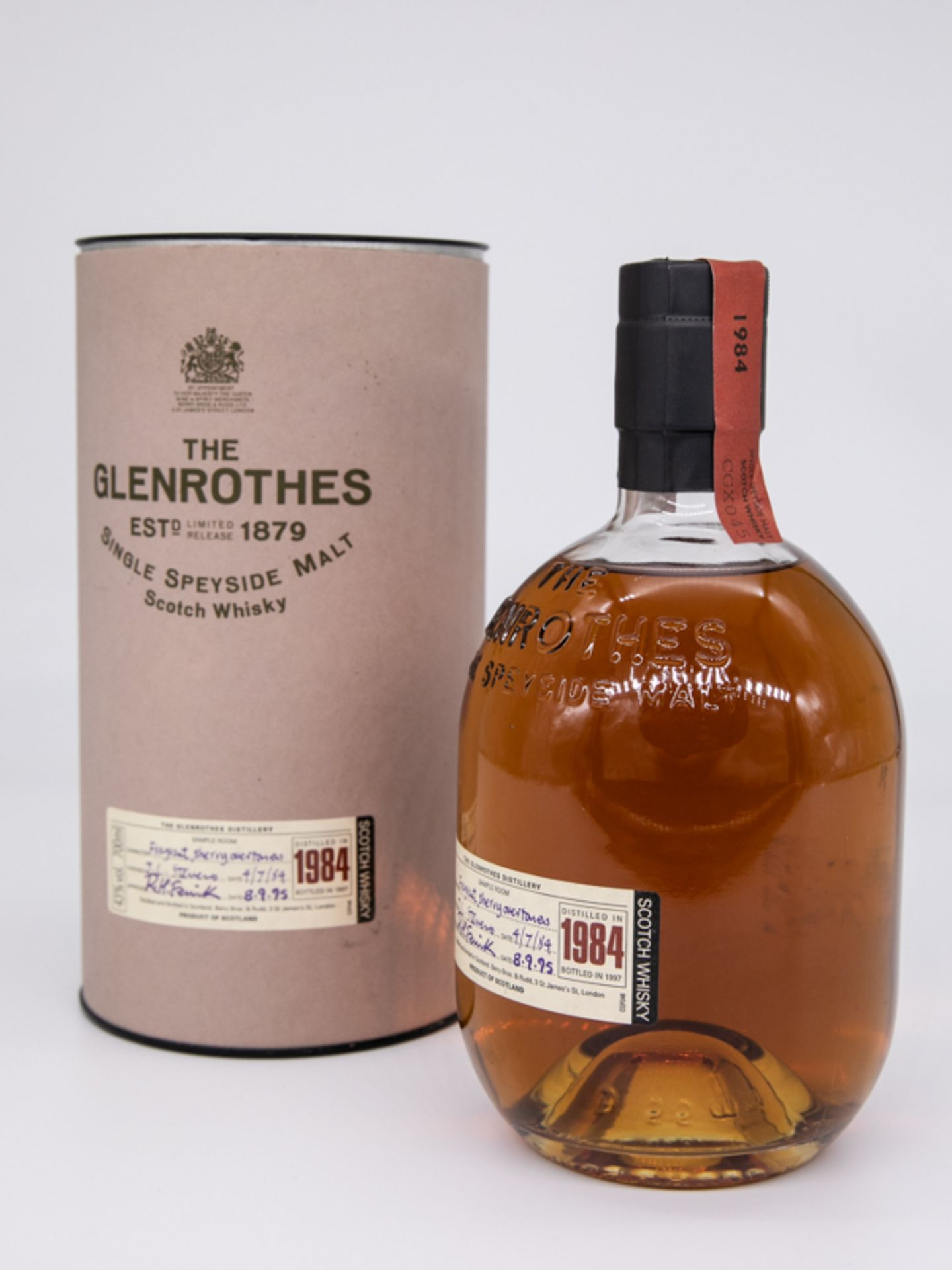 "Single Malt Whisky,""The Glenrothes"", 1984 Limited. Destilliert 04.07.1984. Abgefüllt 08.09.198 - Bild 2 aus 4"
