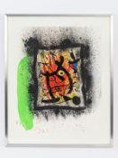 """Miró; Joan (1893 - 1983).<br><br>Farblithographie auf Bütten """"Das lebenslange Interview""""; 1969; unte"""