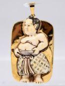 """Anhänger mit japanischer Figurendarstellung """"Samurai""""; Meiji-Zeit und Goldschmiedearbeit aus dem 20."""