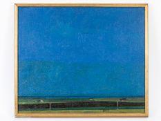 """Maler des 20. Jahrhundert.<br><br>Öl auf Leinwand; """"Norddeutsche Landschaft""""; stilisierte Landschaft"""