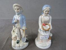 Zwei Porzellan Figuren Frau und Mann Höhe:ca.20cm
