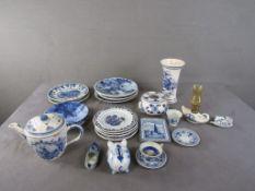 Konvolut Delft blau Porzellan und Keramik ungeprüft