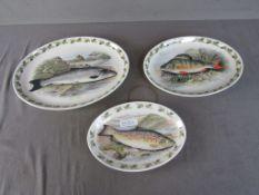 3 Platten Fischdekor Portmeirion UK