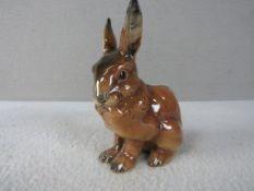 Porzellanfigur Goebel Hase sitzend 15,5cm