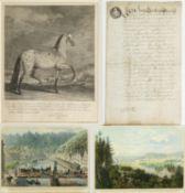 Ridinger. Gurk u.a.Pferdedarstellungen. Marienbad. Carlsbad. Portrait Carl Philipp Fürst zu