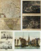 Sallieth, M. Durand, A. Wit, F. de u.a.De Haven von Hoorn. De Haven van Vlaardinge. Le grand
