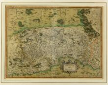 HondiusPalatinatus Bavariae - Oberpfalz. Radierung. Bez. 37 x 50 cm.